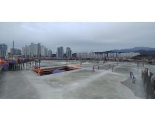 2020.01.05  지상 6층 바닥 콘크리트 타설 완료